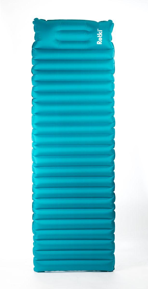 Надувной коврик Retki Ultralite Mattress - отличное решение для путешествий. Обладает высокими термоизоляционными свойствами, обеспечивает максимальный комфорт в походе или при отдыхе на природе. В комплект входит лёгкий и прочный гермомешок, который позволяет без особых усилий, надуть коврик, предварительно соединив их с помощью специального клапана. В транспортном положении может использоваться как гермомешок для хранения одежды или спальника. При ночлеге можно использовать как подушку.Герметичные сварные швы коврика обеспечивают отличную влагоустойчивость. Материал: 40D TPU polyester ripstop. Размер коврика в сложенном виде: 250 х 80 х 80 мм.