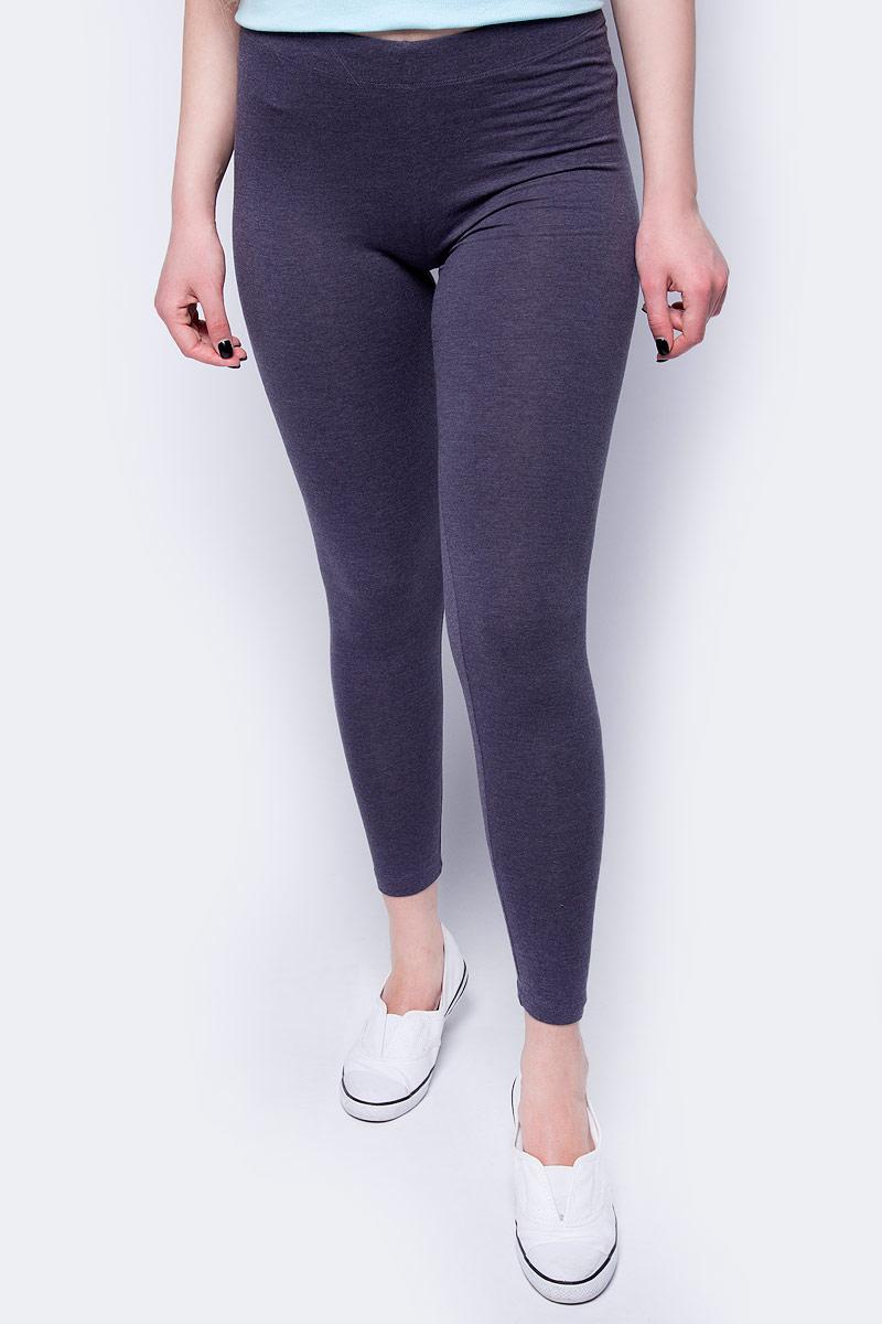 Брюки женские Sela, цвет: темно-серый меланж. PLG-115/862-8192. Размер XS (42) брюки женские sela цвет фиолетовый pk 115 863 8192 размер s 44