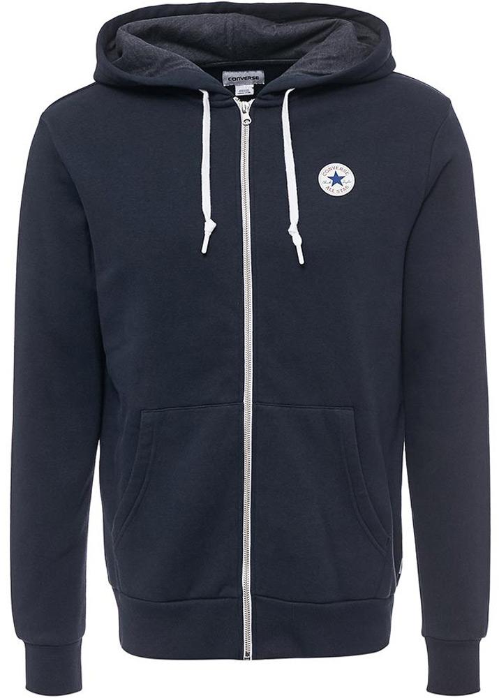 Худи мужское Converse Core Full Zip Hoodie, цвет: темно-синий. 10004627424. Размер S (46) худи converse converse co011emanap2