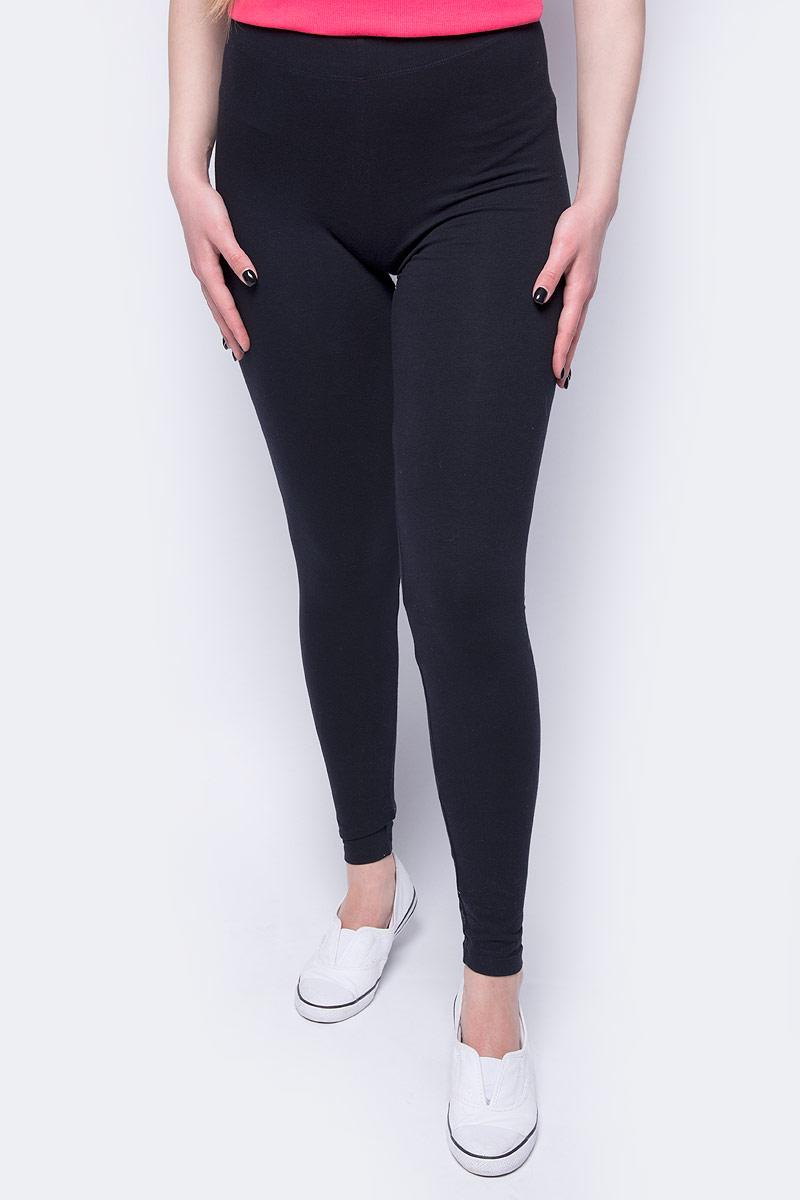 Брюки женские Sela, цвет: черный. PLG-115/862-8192. Размер S (44) брюки женские sela цвет фиолетовый pk 115 863 8192 размер s 44