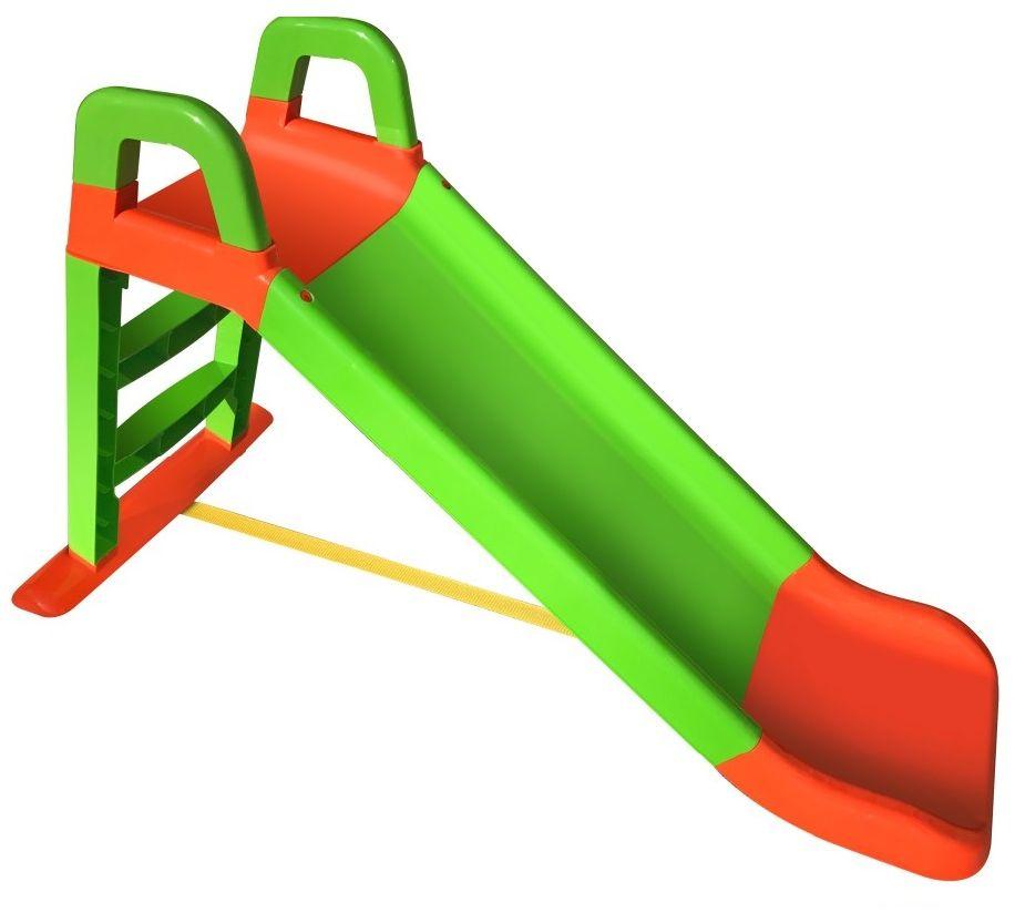 Doloni Горка для катания детей цвет оранжевый зеленый 0140 smoby детская горка king size цвет красный