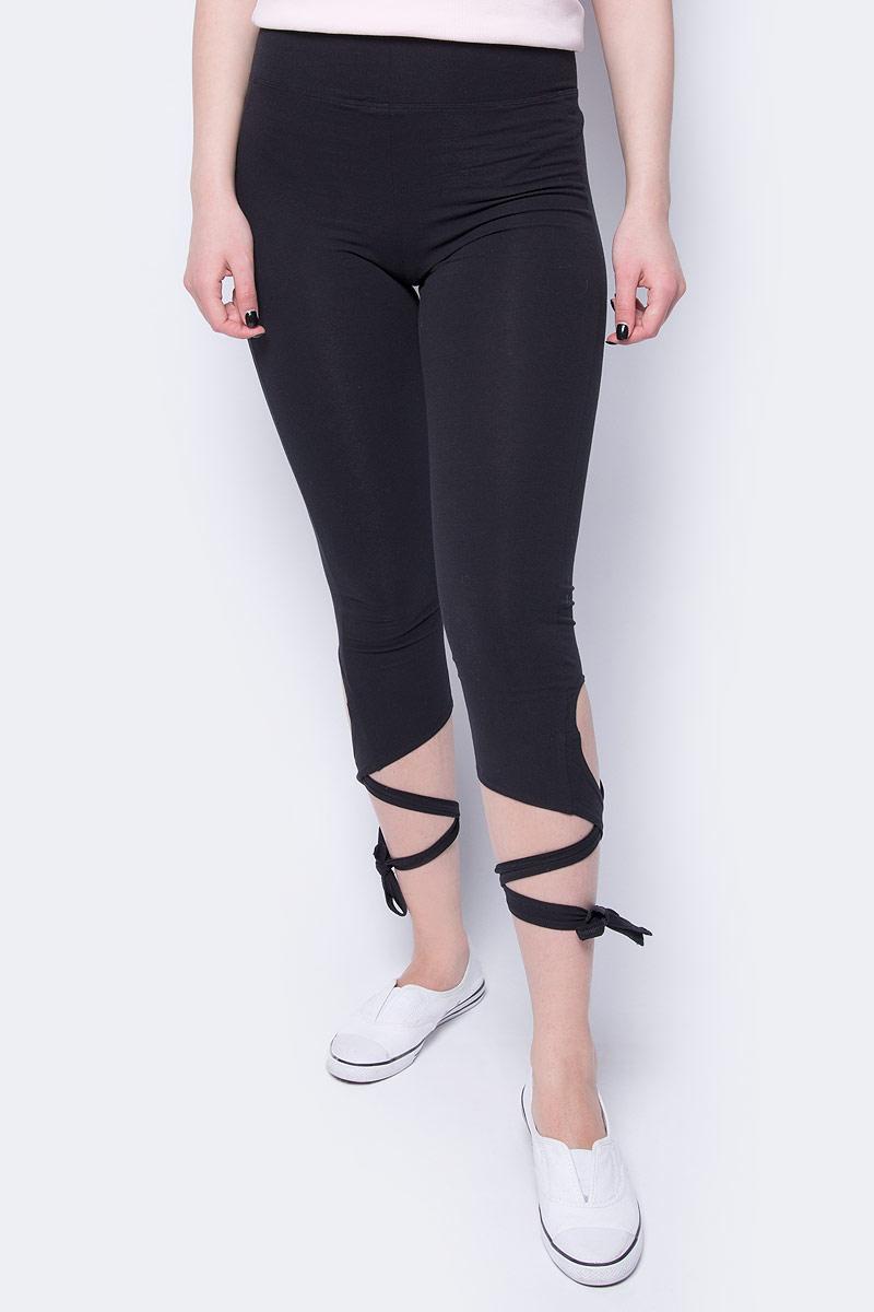 Леггинсы женские Sela, цвет: черный. PLGs-115/861-8192. Размер XS (42)