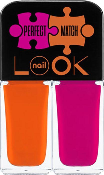 NailLOOK Лак для ногтей Trends Perfect Match, Sweets&Beets, 2 шт, 3 мл31923Представляем коллекцию с идеальным сочетанием цветов. Под одну крышечку собираются два флакончика, как увлекательный пазл. Трендовые оттенки гармонично сочетаются друг с другом и в результате вы получаете совершенное цветовое решение. Заводной оранжевый и насыщенный ярко розовый-смелое решение для творческих и страстных натур.