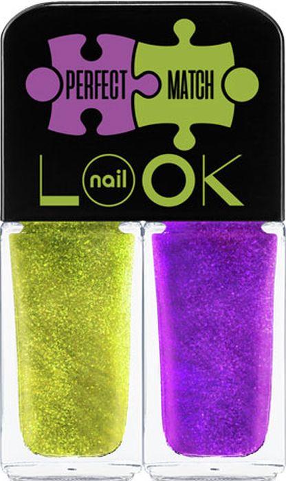 NailLOOK Лак для ногтей Trends Perfect Match, Dream&Muse, 2 шт, 3 мл31924Представляем коллекцию с идеальным сочетанием цветов. Под одну крышечку собираются два флакончика, как увлекательный пазл. Трендовые оттенки гармонично сочетаются друг с другом и в результате вы получаете совершенное цветовое решение. Сочный лимонно-салатовый и глубокий ультра фиолетовый-невероятный тандем лаков с шиммером для свободных художников и интеллектуалов.
