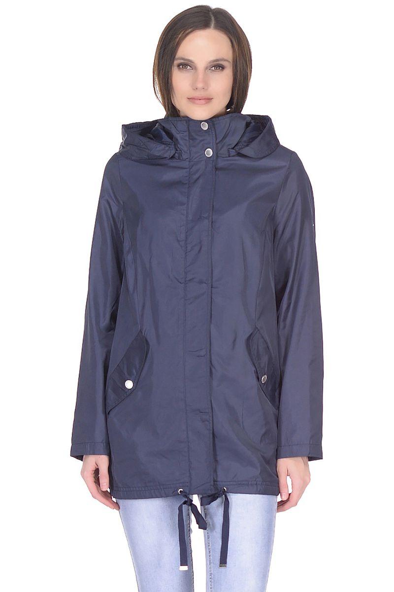 Ветровка женская Baon, цвет: синий. B108020_Dark Navy. Размер XXL (52) ur женщин шнурок с капюшоном с длинными рукавами свитер футболка печать yv10s4jn2001 глубокий черный l