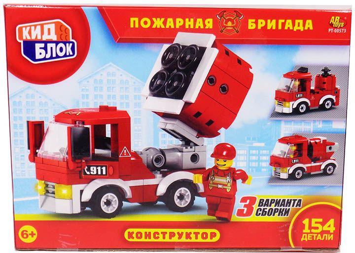 KidBlock Пластиковый конструктор Пожарная бригада набор пазлов пожарная бригада 2 х 24 детали