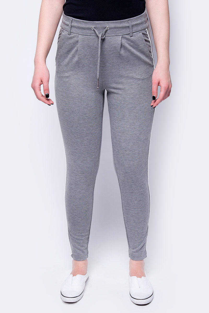 Брюки женские Only, цвет: серый. 15151555_Medium Grey Melange. Размер M (44) брюки женские only цвет черный 15136433