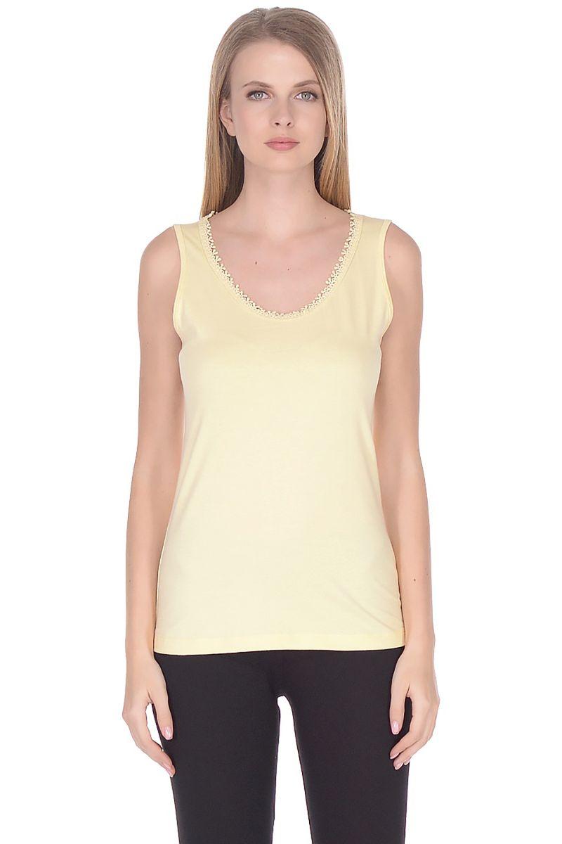 Майка женская Baon, цвет: желтый. B258203_Dark Twinkle. Размер XL (50) блузка женская baon цвет желтый b117007 размер xl 50