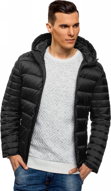 Куртка мужская oodji Basic, цвет: черный. 1B112008M/25278N/2900N. Размер XL-182 (56-182) куртка мужская oodji basic цвет темно синий 1b112008m 25278n 7900n размер m 50 182