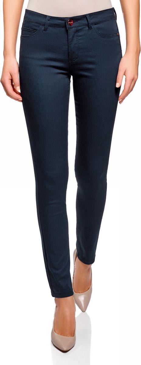 Джинсы женские oodji Ultra, цвет: темно-синий джинс. 12104059B/45491/7900W. Размер 29-32 (48-32) джинсы женские oodji ultra цвет темно синий джинс 12103145b 46341 7900w размер 26 32 42 32