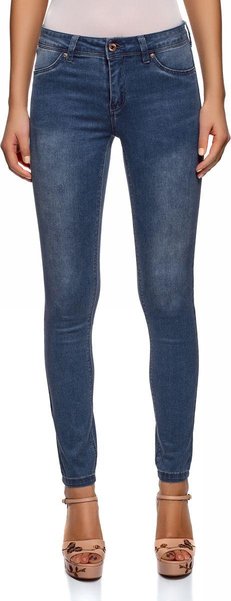 Джинсы женские oodji Ultra, цвет: синий джинс. 12104075-1/47926/7500W. Размер 29-32 (48-32) джинсы женские oodji ultra цвет темно синий джинс 12103145b 46341 7900w размер 26 32 42 32