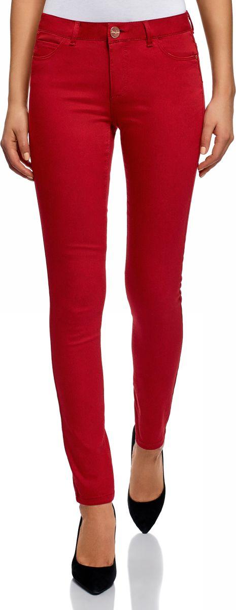 Джинсы женские oodji Ultra, цвет: красный джинс. 12104059B/45491/4502W. Размер 25-32 (40-32)