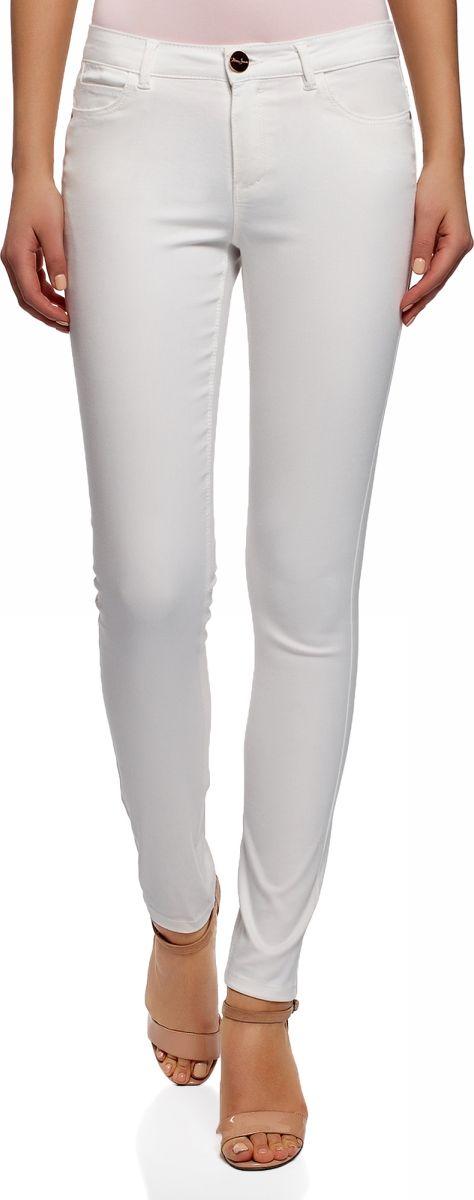 Джинсы женские oodji Ultra, цвет: белый джинс. 12104059B/45491/1201W. Размер 25-32 (40-32) джинсы 40 недель джинсы
