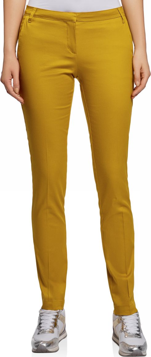 Брюки женские oodji Ultra, цвет: горчичный. 11704017B/14522/5701N. Размер 34-170 (40-170) брюки женские oodji ultra цвет светло серый 11700160 27125 2000n размер 34 170 40 170