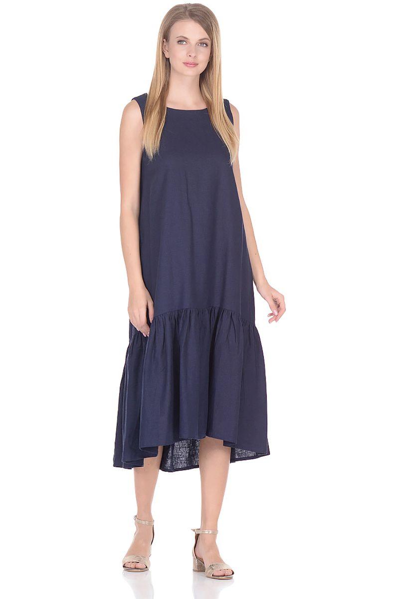 Платье Baon, цвет: синий. B458056_Dark Navy. Размер M (46) платье baon цвет синий b457054 larkspur размер m 46