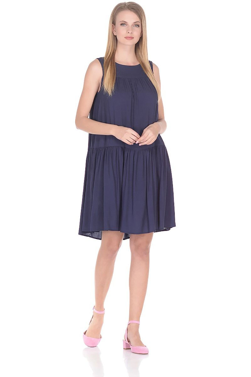 Платье Baon, цвет: синий. B458058_Dark Navy. Размер L (48)