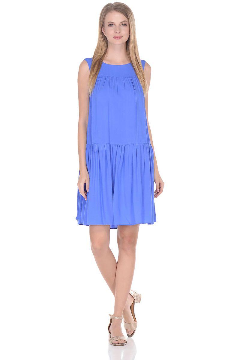 Платье Baon, цвет: голубой. B458058_Larkspur. Размер L (48) платье baon цвет голубой b457097