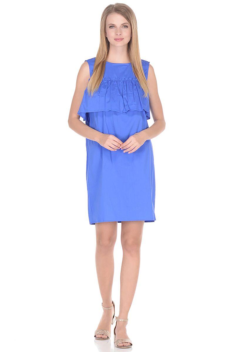 Платье Baon, цвет: голубой. B458064_Larkspur. Размер L (48) платье baon цвет голубой b457097