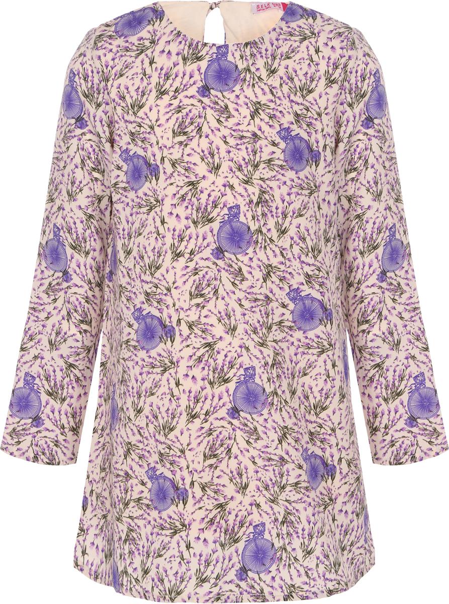 Платье для девочки Sela, цвет: кремовый. D-617/886-8112. Размер 140, 10 лет