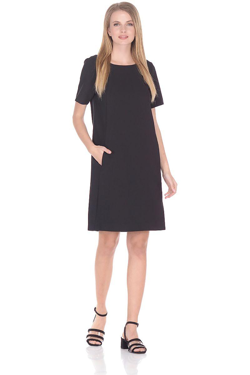 Платье Baon, цвет: черный. B458042_Black. Размер XXL (52)