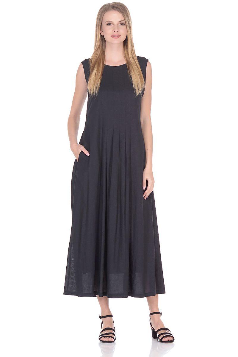 Платье Baon, цвет: черный. B458083_Black. Размер M (46)