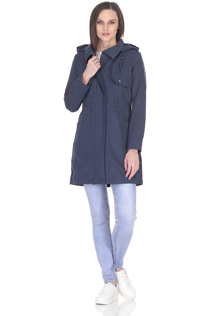 Купить Плащ женский Baon, цвет: синий. B088029_Dark Navy. Размер M (46)