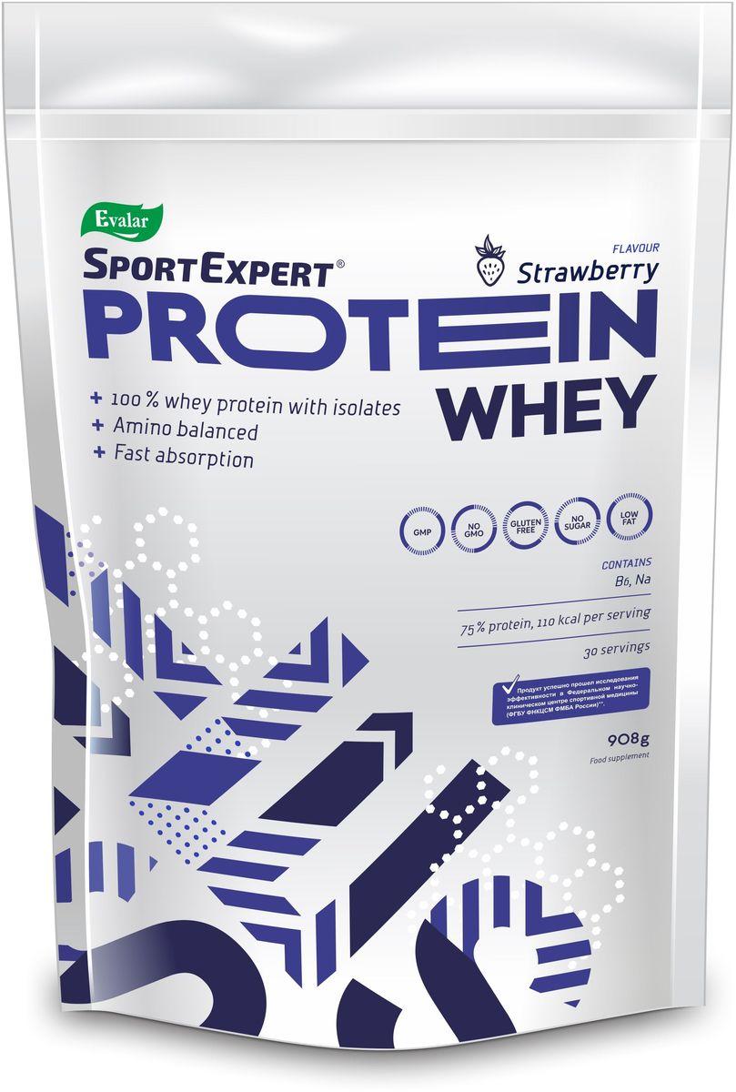 Протеин сывороточный SportExpert Whey Protein, клубника, 908 г