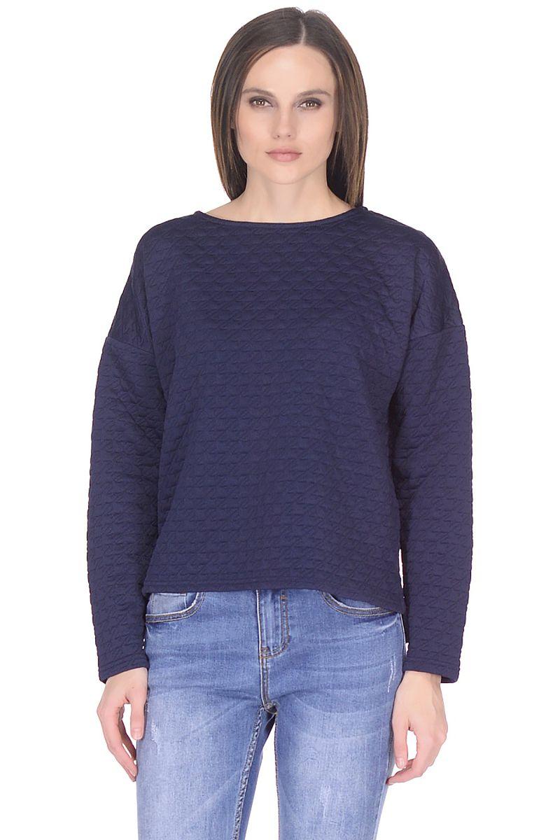 Купить Свитшот женский Baon, цвет: синий. B118009_Dark Navy. Размер XS (42)