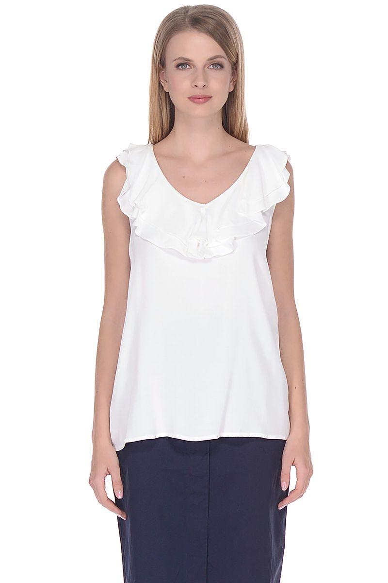 Топ женский Baon, цвет: белый. B268010_Milk. Размер L (48) топ женский baon цвет белый b268202 white размер 3xl 54