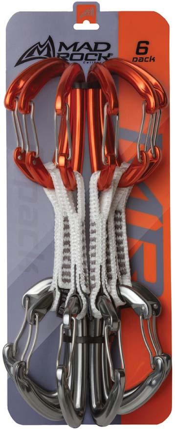 Оттяжка для скалолазания Mad Rock Сoncorde Express Set, с карабином, цвет: оранжевый, серебристый, 6 штУТ000003505Mad Rock Concorde Quick Draw 6 Pack – комплект из 6 оттяжек.Каждая оттяжка состоит из 2-х карабинов, связанных между собой петлей из прочного волокна Dyneema.Concorde Quick Draw – одни из самых легких и прочных скалолазных оттяжек Mad Rock, отлично подходят для всех видов скалолазания, навески маршрутов.Вес одной оттяжки: 87 гр.Макс нагрузка в продольном направлении: 26 KNМакс нагрузка в поперечном направлении: 10 KNМакс нагрузка в продольном направлении с открытой защелкой: 8 KN