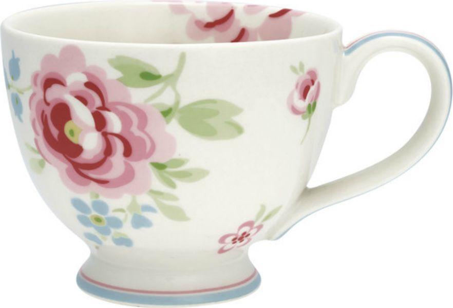 Чашка чайная Greengate Meryl, 350 млSTWTECMER0106GreenGate- это широко известная во всем мире компания, которая с 2001 года производит потрясающую по красотеколлекционную посуду.