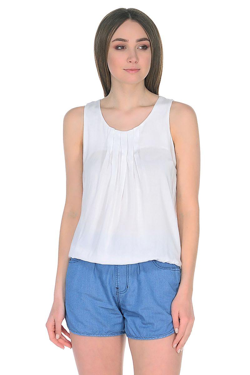 Топ женский Baon, цвет: белый. B268071_White. Размер M (46)