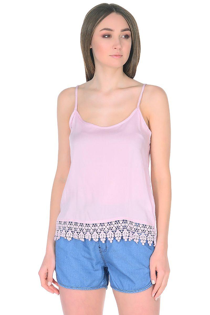 Топ женский Baon, цвет: розовый. B268068_Snakeweed. Размер XL (50) baon хлопковая майка на тонких бретелях арт baon b256203 зеленый