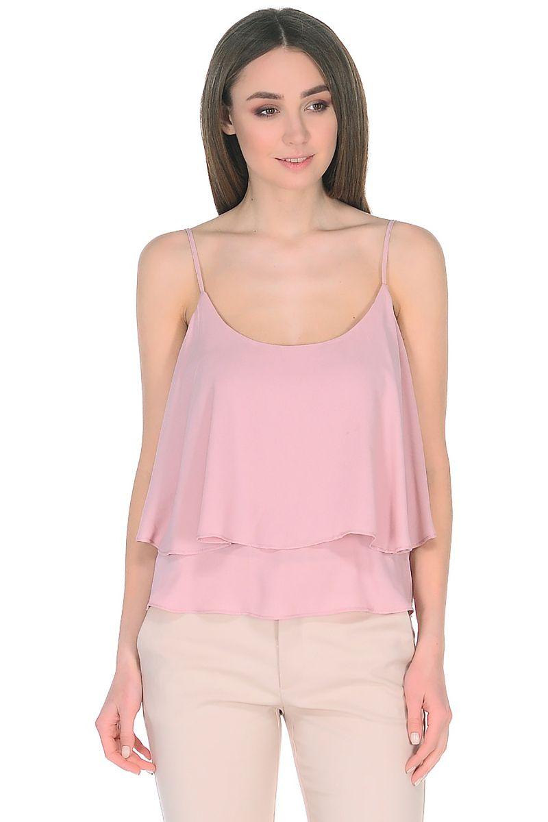 Топ женский Baon, цвет: розовый. B268069_Valerian. Размер L (48) baon хлопковая майка на тонких бретелях арт baon b256203 зеленый