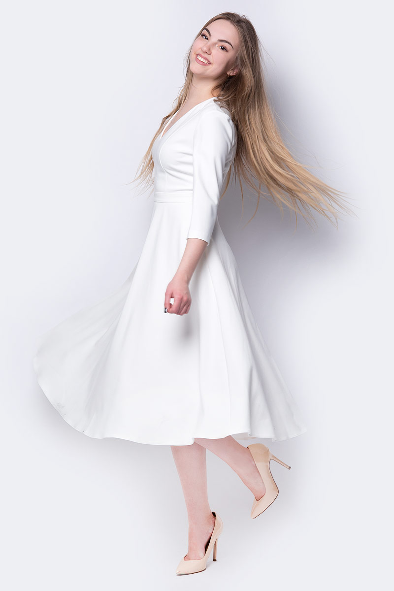 Платье adL, цвет: белый. 12433506000_019. Размер XS (40/42) 32 35mm vacuum cleaner accessories multifunctional nozzle set universal pocket size piece set small brush head brush 9pcs lot