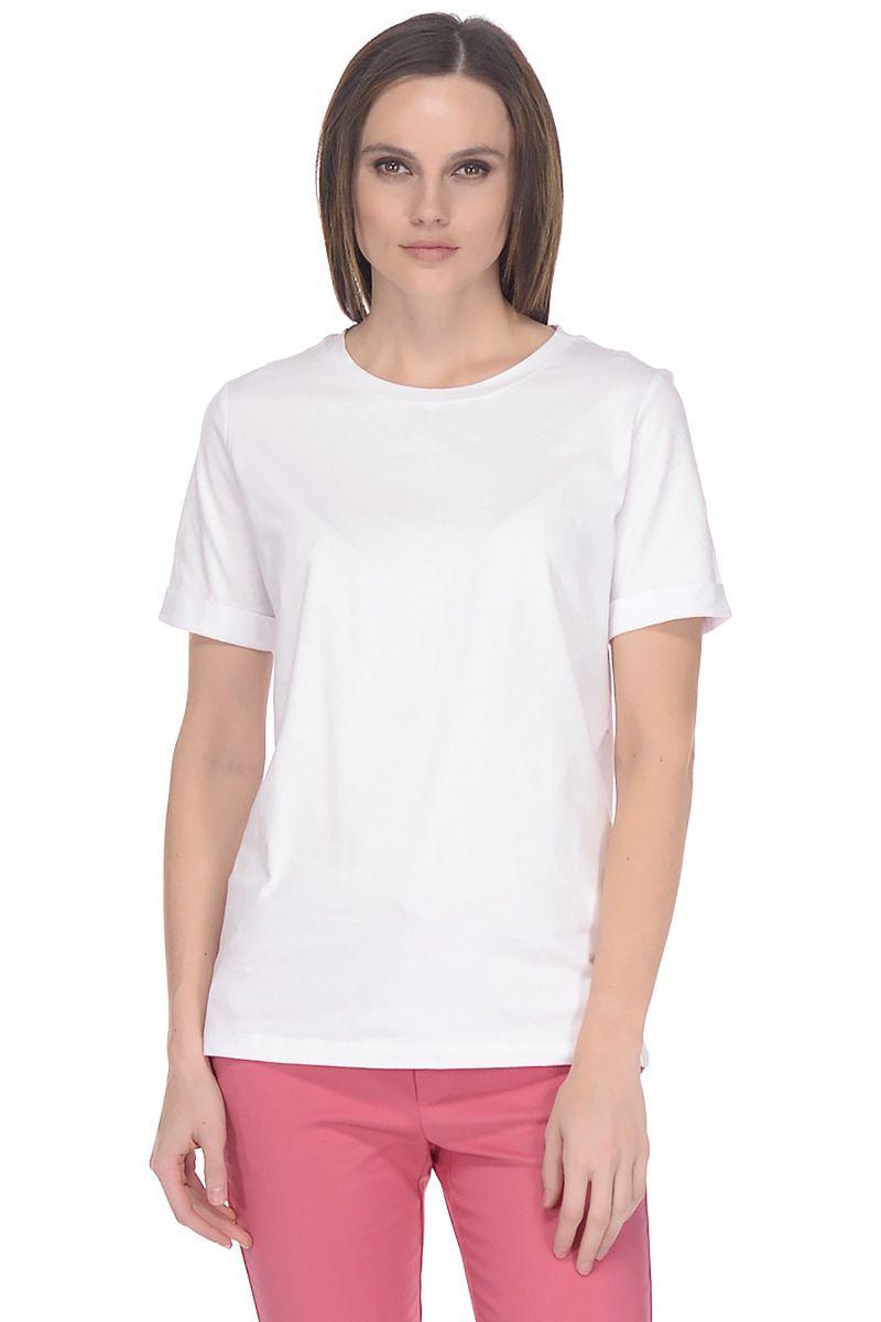 Купить Футболка женская Baon, цвет: белый. B238205_White. Размер M (46)