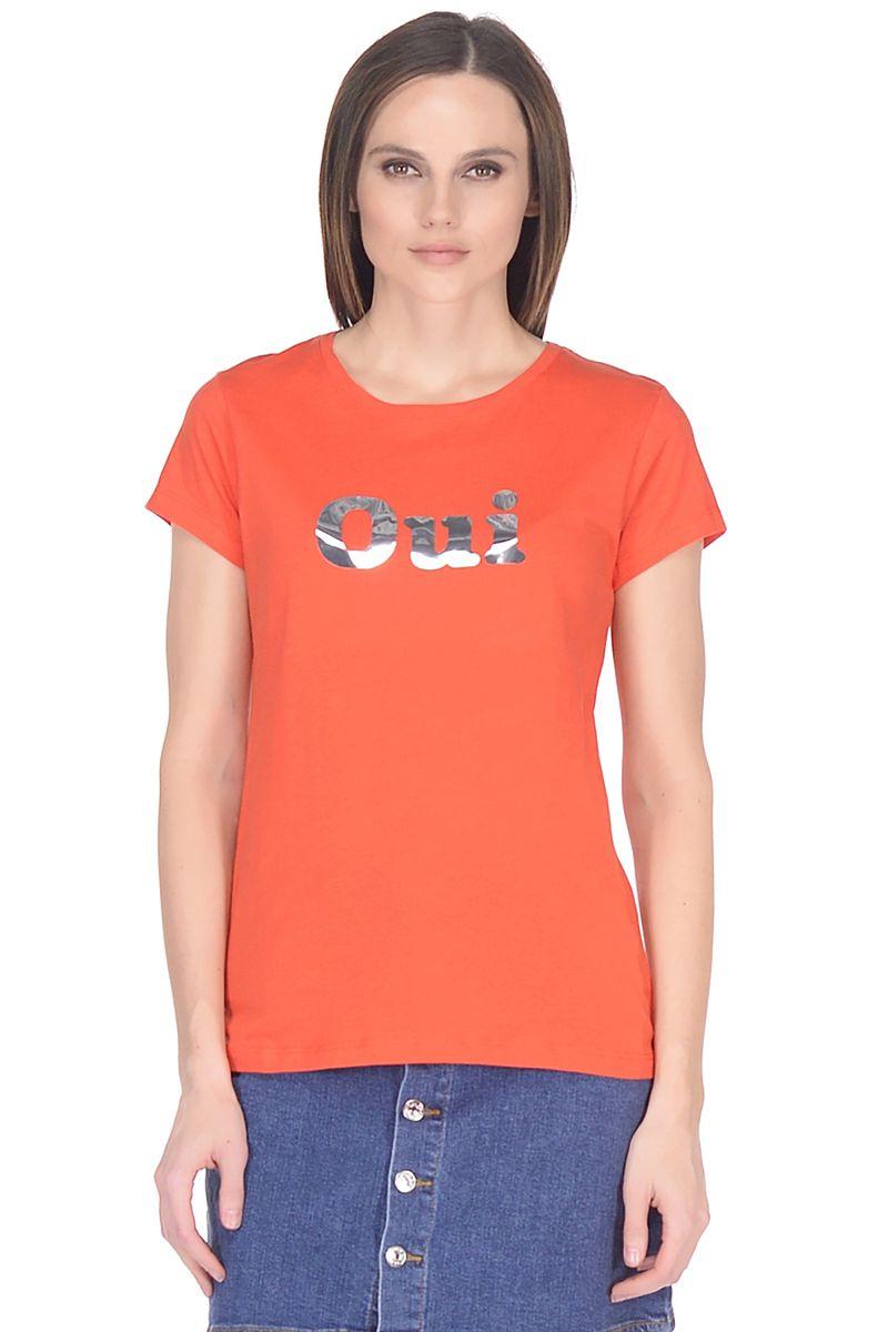 Футболка женская Baon, цвет: красный. B238109_Dark Tomato. Размер XXL (52)