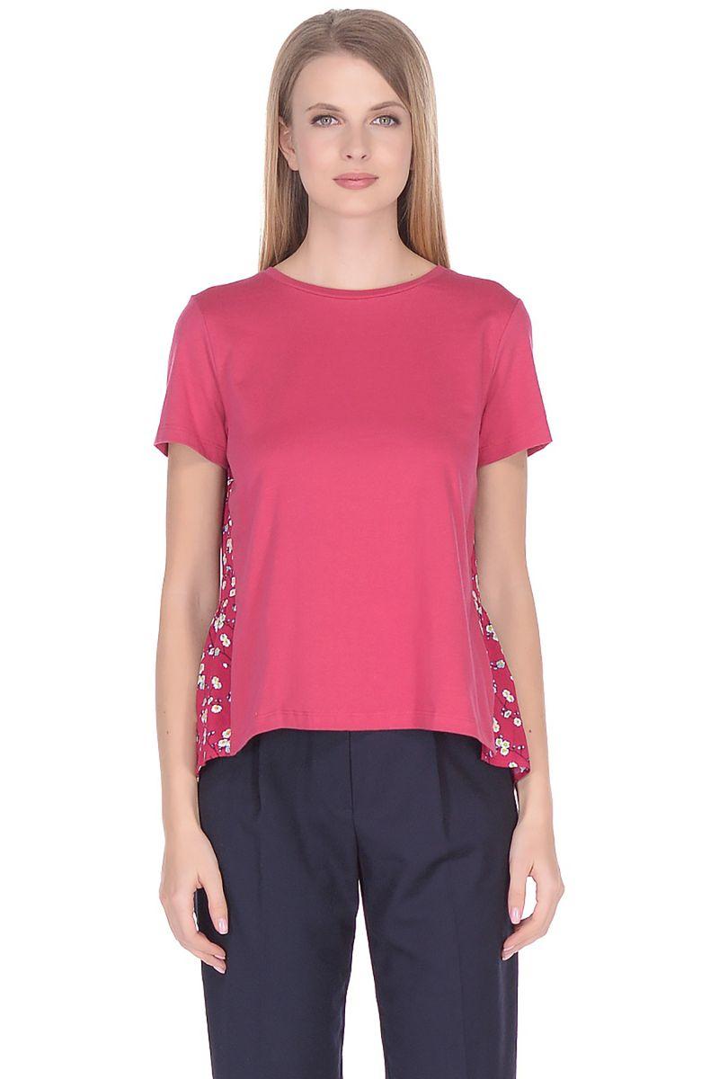 Футболка женская Baon, цвет: розовый. B238036_Dark Teaberry. Размер XXL (52)