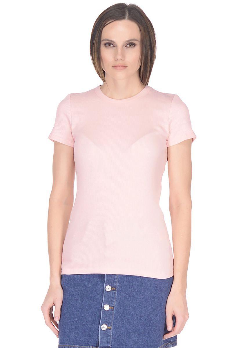 Купить Футболка женская Baon, цвет: розовый. B238202_Pale Salmon. Размер S (44)