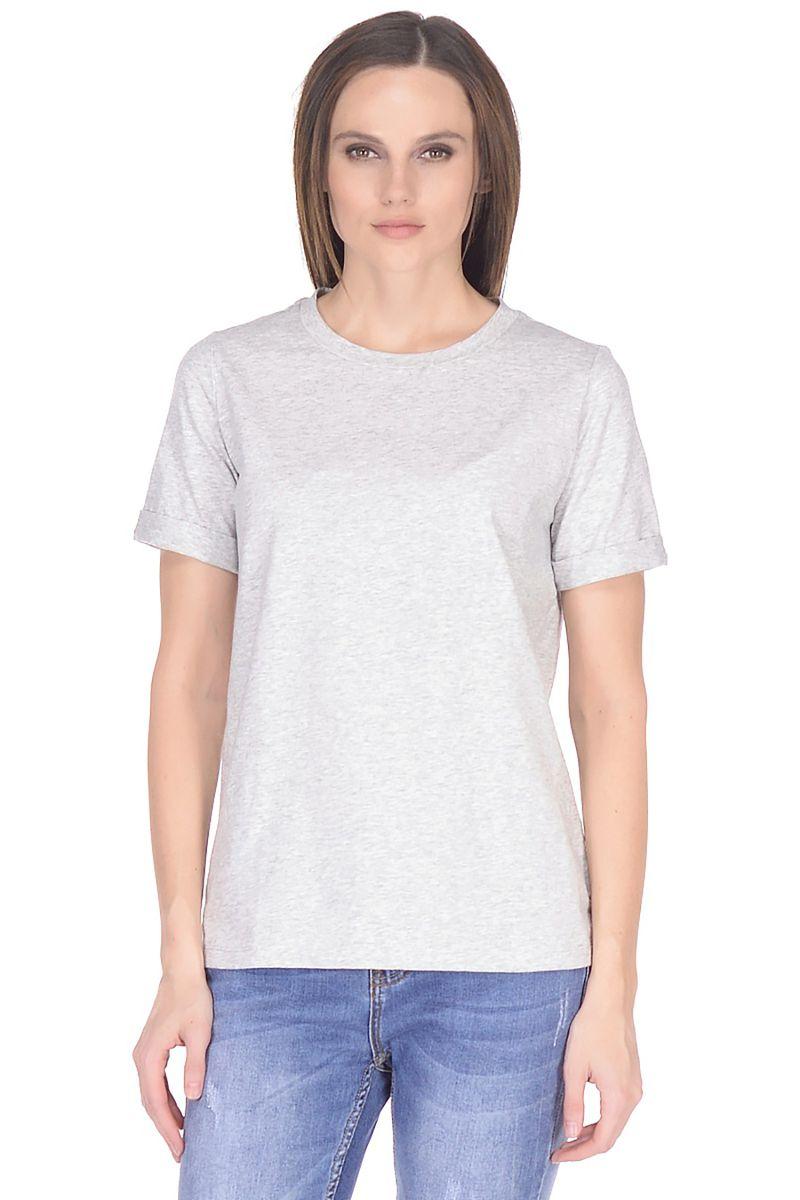 Футболка женская Baon, цвет: серый. B238205_Silver Melange. Размер XXL (52) футболка baon baon ba007emayig2