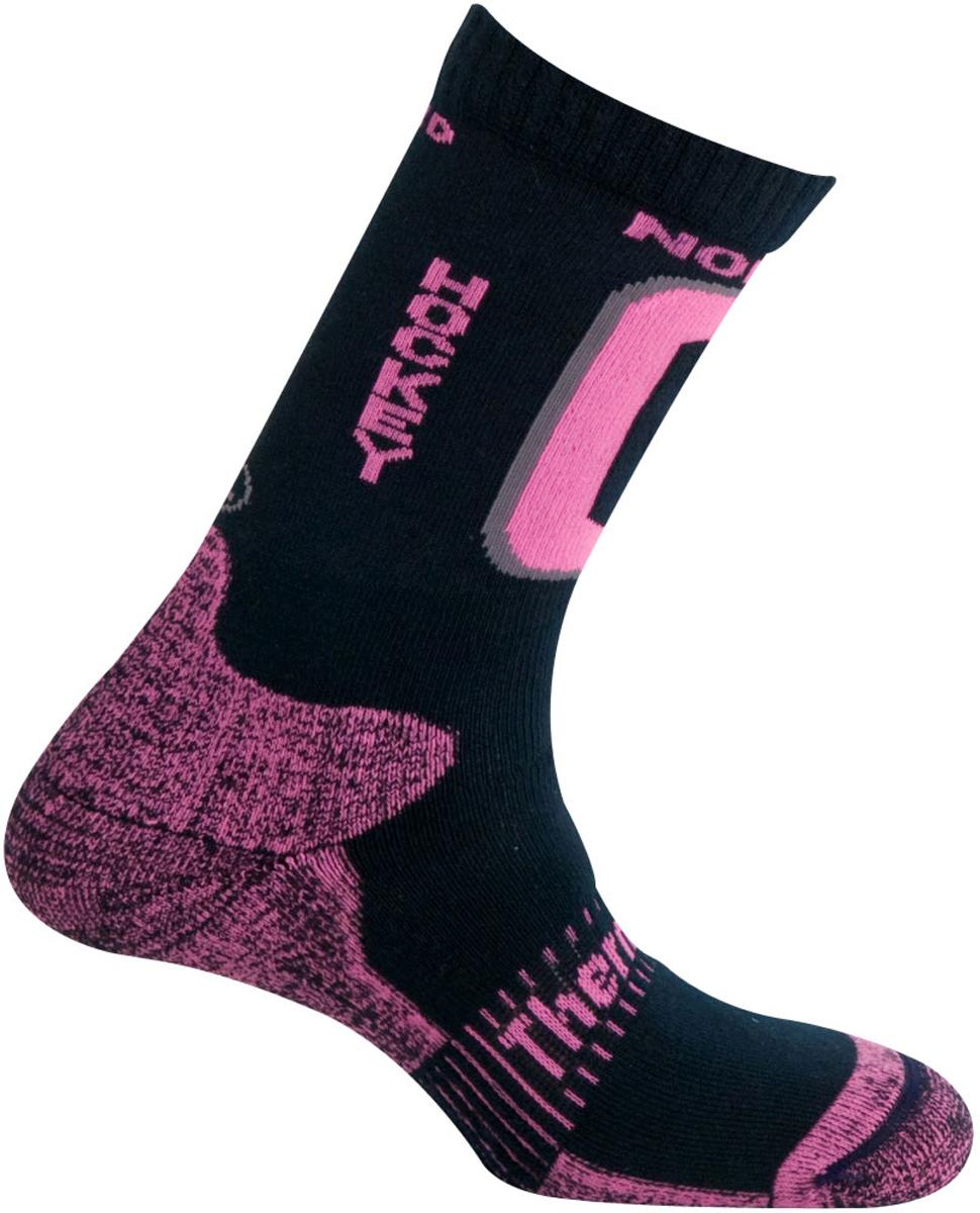 Термоноски Mund Nordic Skating Hockey, цвет: синий, розовый. 321_19. Размер 41/45321_19Зимние носки для игры в хоккей от Mund. Сохраняют тепло при температуре до -20°C. Использование волокон Thermolite обеспечивает комфорт сухого тепла, а так же отведение влаги с поверхности ступни. Сохраняет свои согревающие свойства во влажном состоянии. Носок содержит полиамид для прочности и эластан для оптимального облегания ноги.
