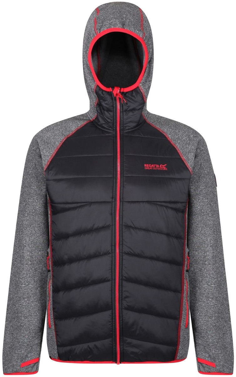 Куртка мужская Regatta Andreson III Hybr, цвет: черный. RMN106-800. Размер XXL (58/60) розетка legrand mosaic 8м 4х2к з красный 77614
