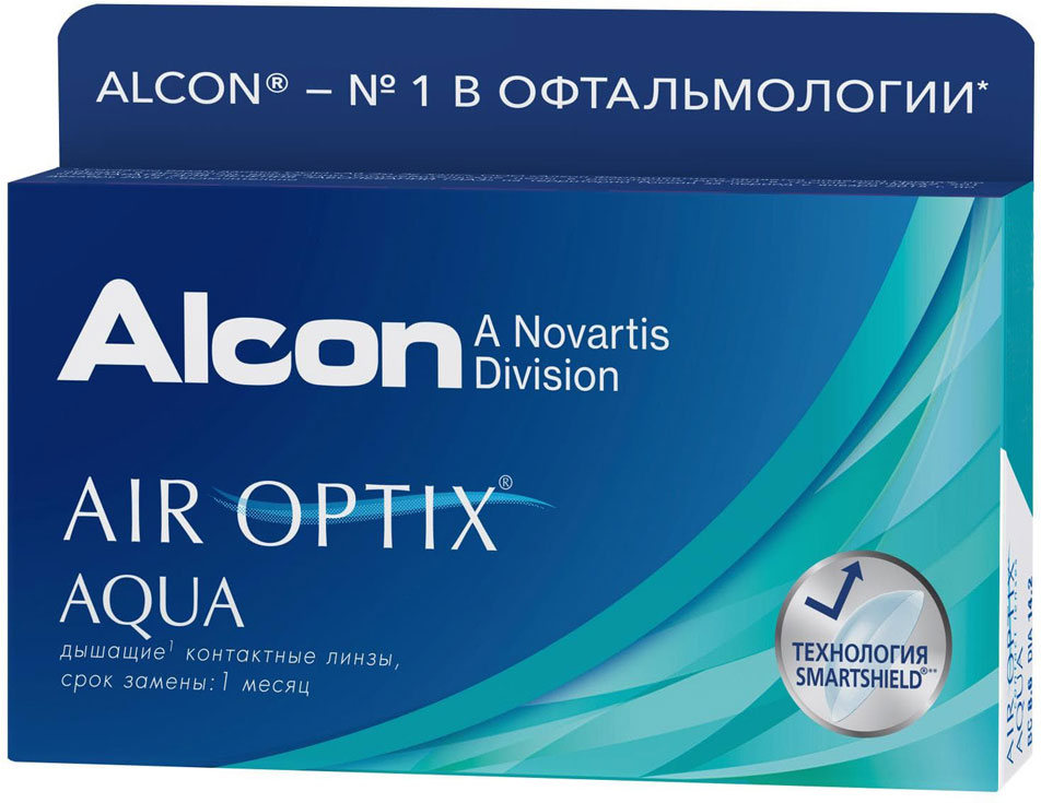 Alcon-CIBA Vision контактные линзы Air Optix Aqua (3шт / 8.6 / 14.20 / -5.25)