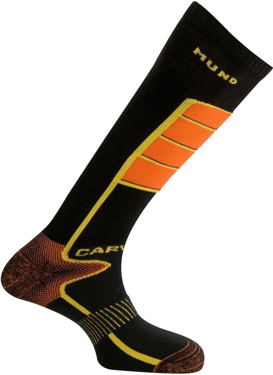 Термоноски Mund Carving, цвет: черный, оранжевый. 317_12/15. Размер 46/49 цены онлайн