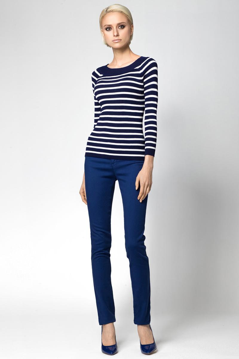 Джемпер женский Conso, цвет: темно-синий. KWJS180722. Размер 46 (48) пуловер conso wear conso wear co050ewbbsv9