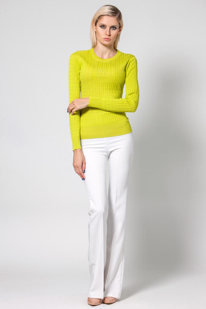 Джемпер женский Conso, цвет: желтый. KWJS180725. Размер 48 (50) джемпер женский conso цвет желтый kwjs180721 размер 46 48