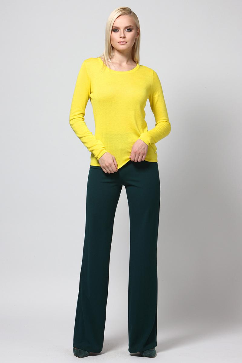 Джемпер женский Conso, цвет: желтый. KWJS180727. Размер 46 (48) пуловер conso wear conso wear co050ewbbsv9