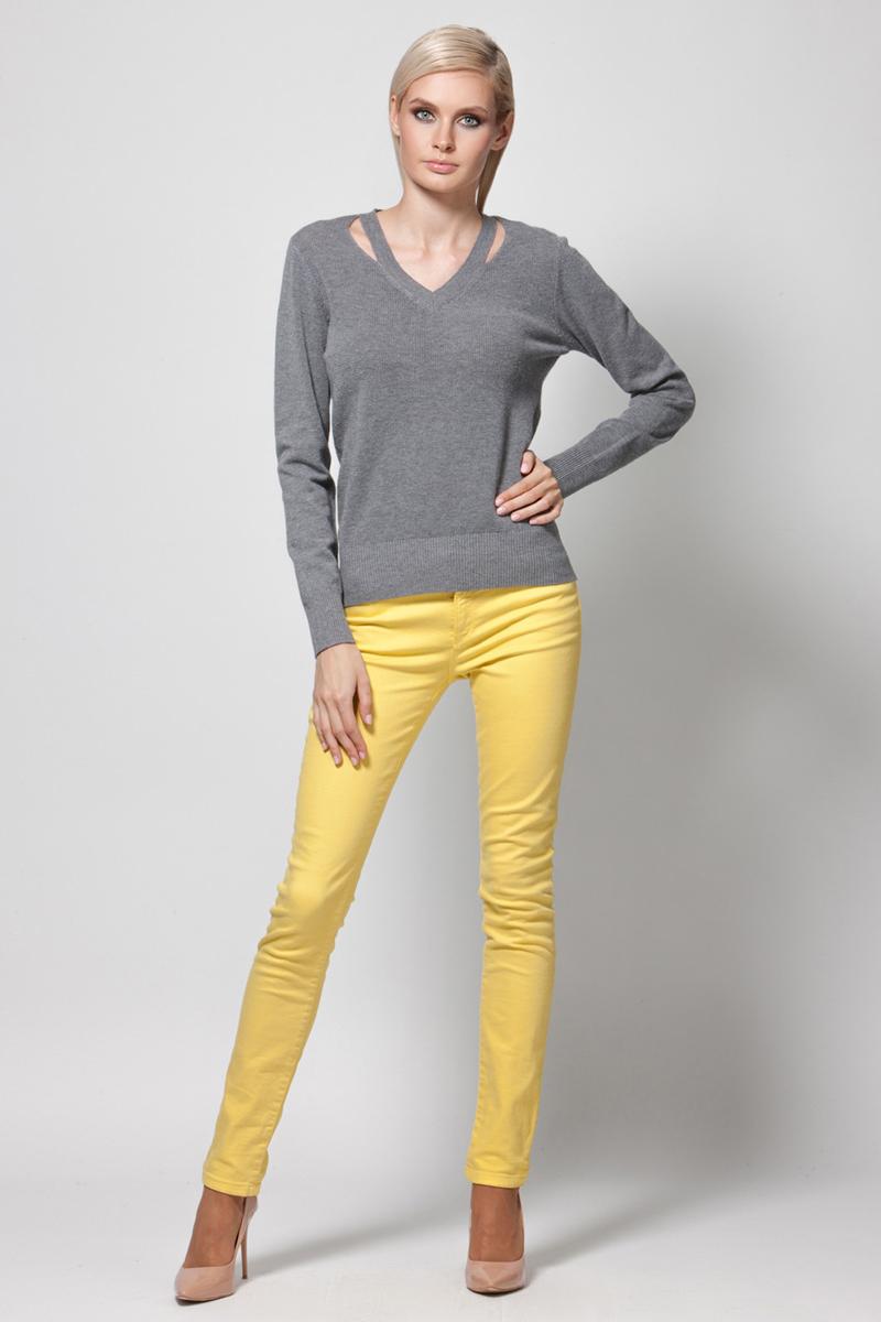 Джемпер женский Conso, цвет: серый. KWJS180731. Размер 48 (50)