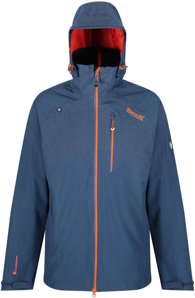 Куртка мужская Regatta Oklahoma III, цвет: синий. RMW275-8PQ. Размер XXL (58/60) розетка legrand mosaic 8м 4х2к з красный 77614