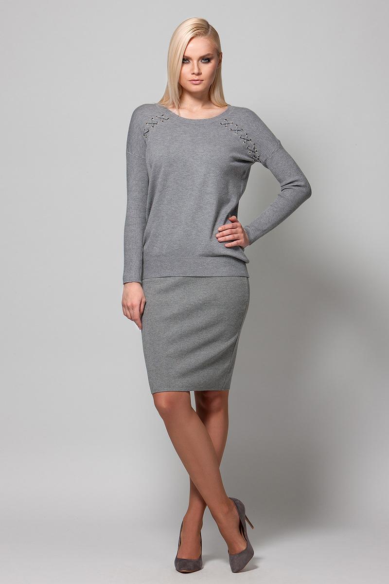 Джемпер женский Conso, цвет: серый. KWJS180736. Размер 46 (48)